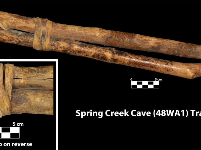 WA1 Spring Creek Cave travois pole