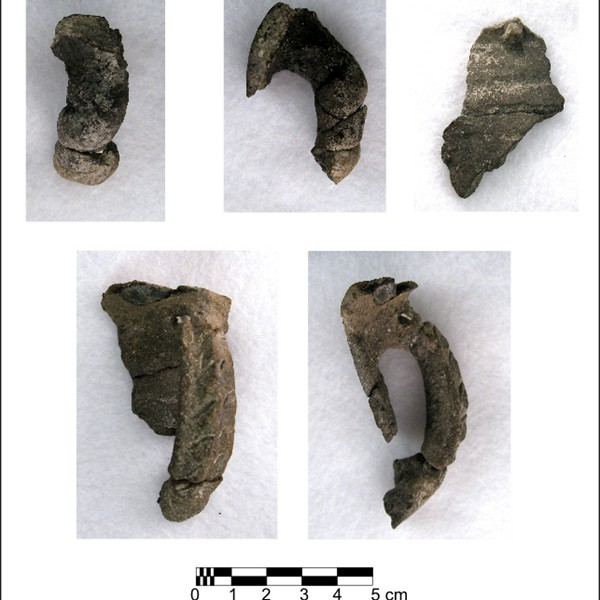 Fremont handles and rim sherd found northeast of Rawlins